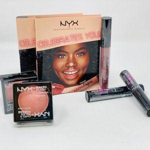 6pc-NYX makeup set-2 baked blush/2 mascara/2 lip